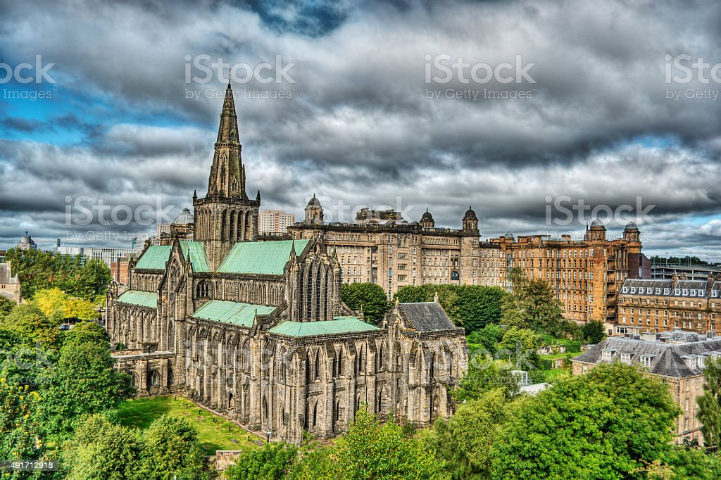 Glasgow Cathedral HDR stock photo