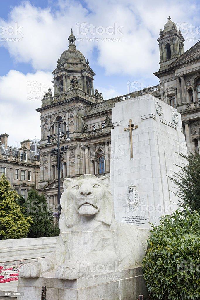 Glasgow Cenotaph stock photo