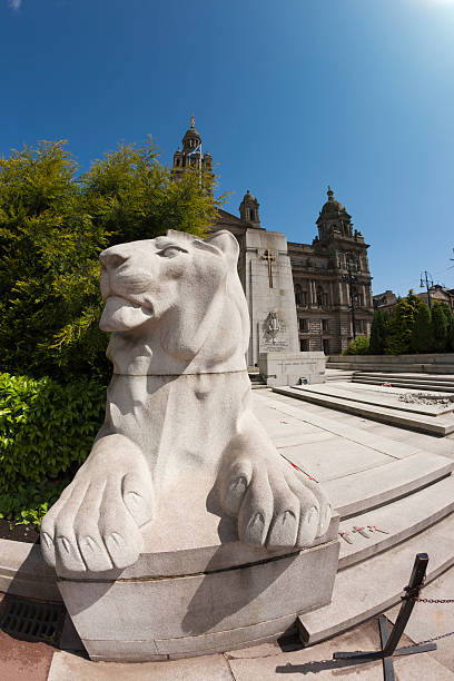 glasgow cenotaph - war memorial stock pictures, royalty-free photos & images