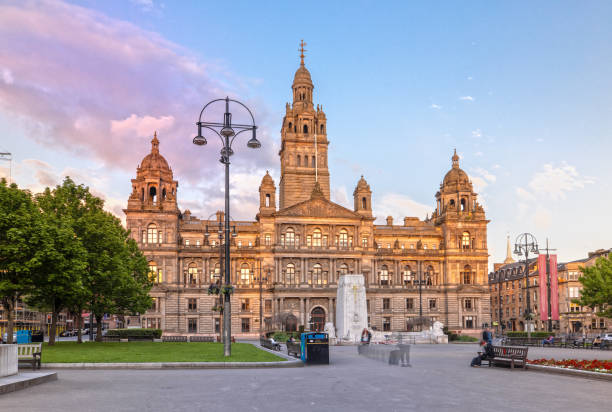 Glasgow City Chambers and George Square in Glasgow, Schottland – Foto