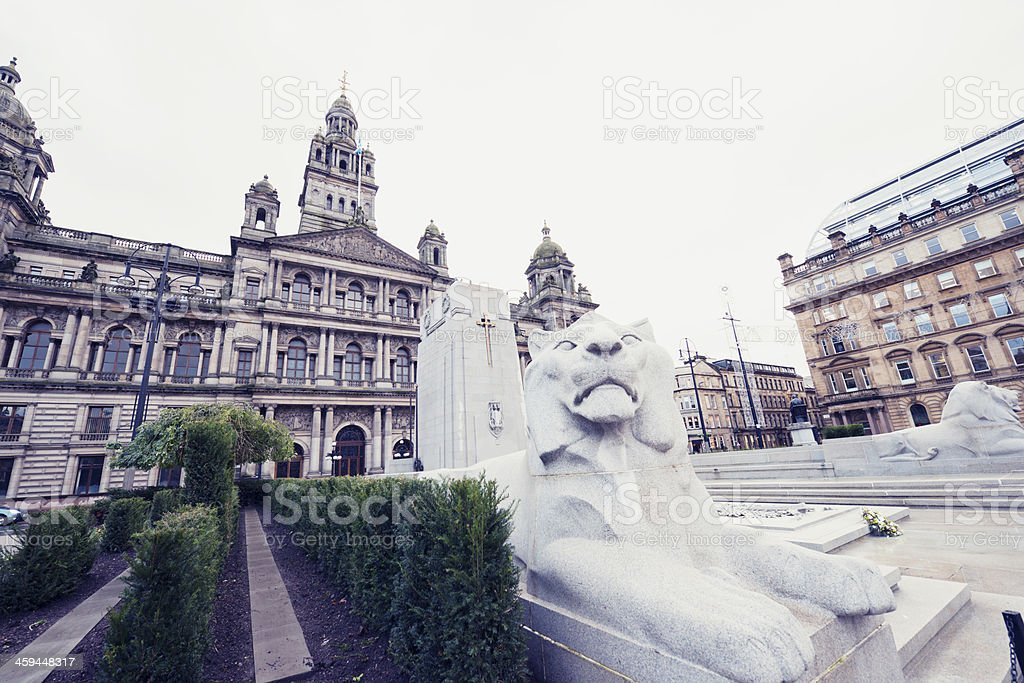 Glasgow City Chambers Building in George Square stock photo