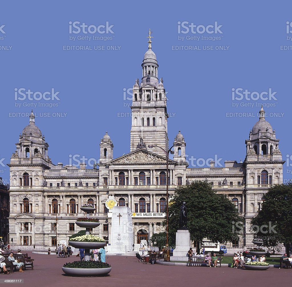 Glasgow City Chambers George Square Scotland stock photo