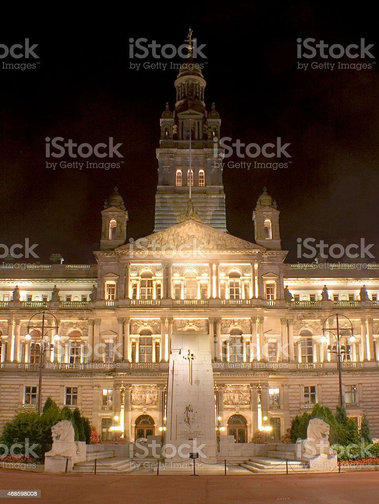 Glasgow City Chambers - Scotland stock photo