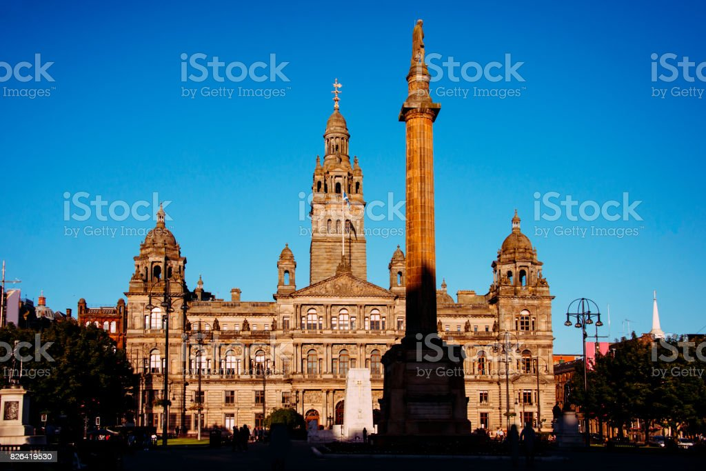 Glasgow City Hall stock photo