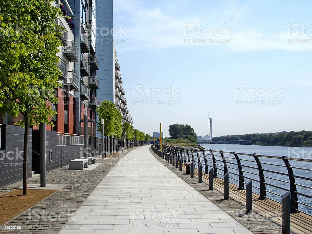 Glasgow Harbour Flats royalty-free stock photo