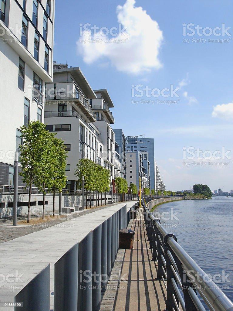 Glasgow Harbour Modern Flats royalty-free stock photo