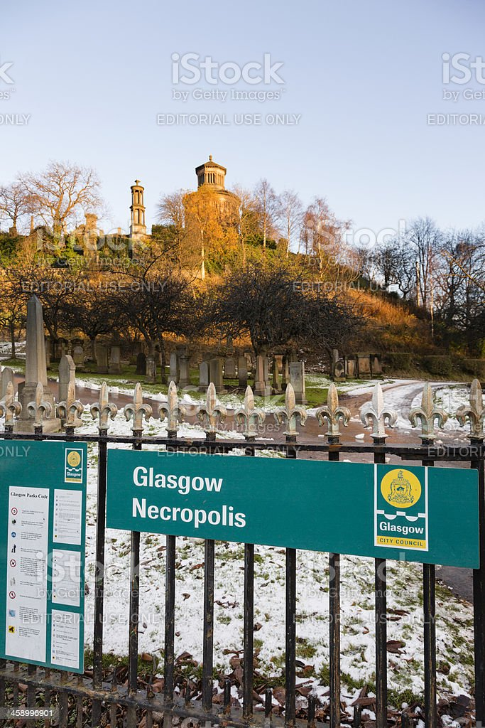 Glasgow Necropolis royalty-free stock photo