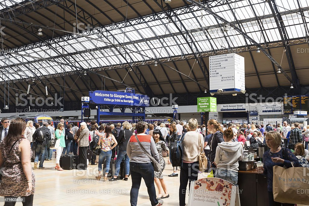 Glasgow Queen Street Station royalty-free stock photo