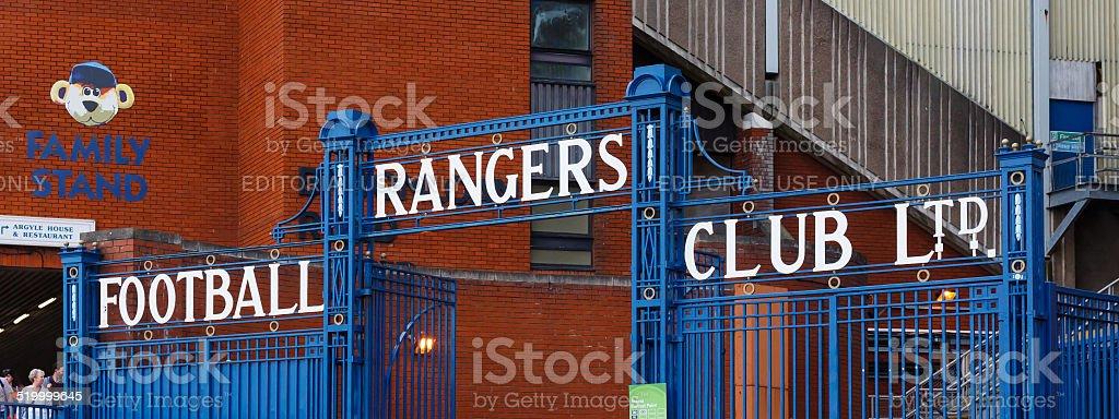 Glasgow Rangers Gates stock photo