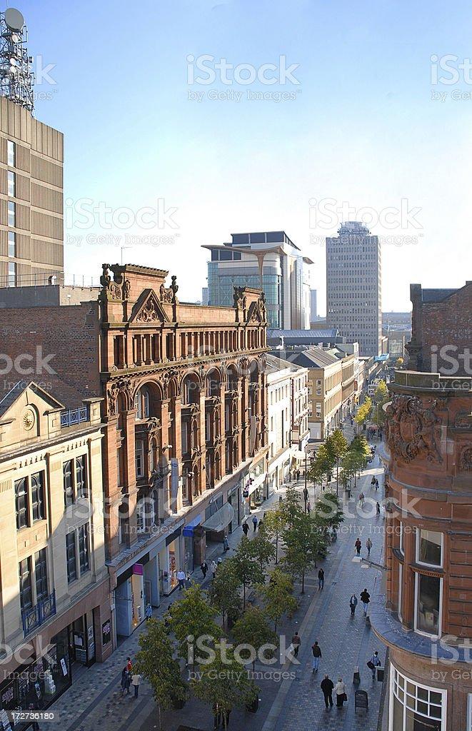 Glasgow Sauchiehall Street royalty-free stock photo