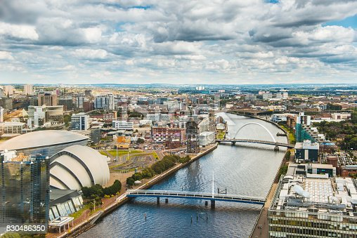 A view of Glasgow, Scotland, from above.