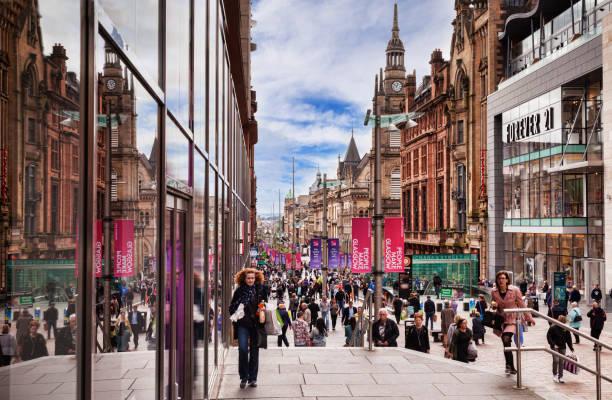 Glasgow, Scotland, Shopping in Buchanan Street stock photo