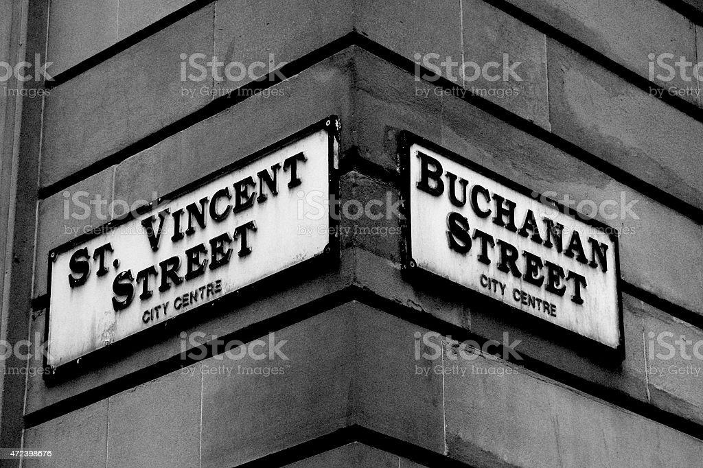 glasgow streets stock photo