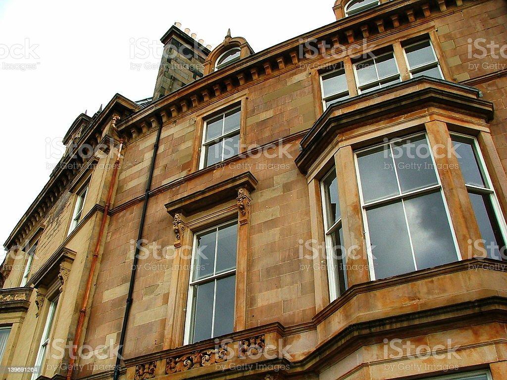 Glasgow tenements royalty-free stock photo