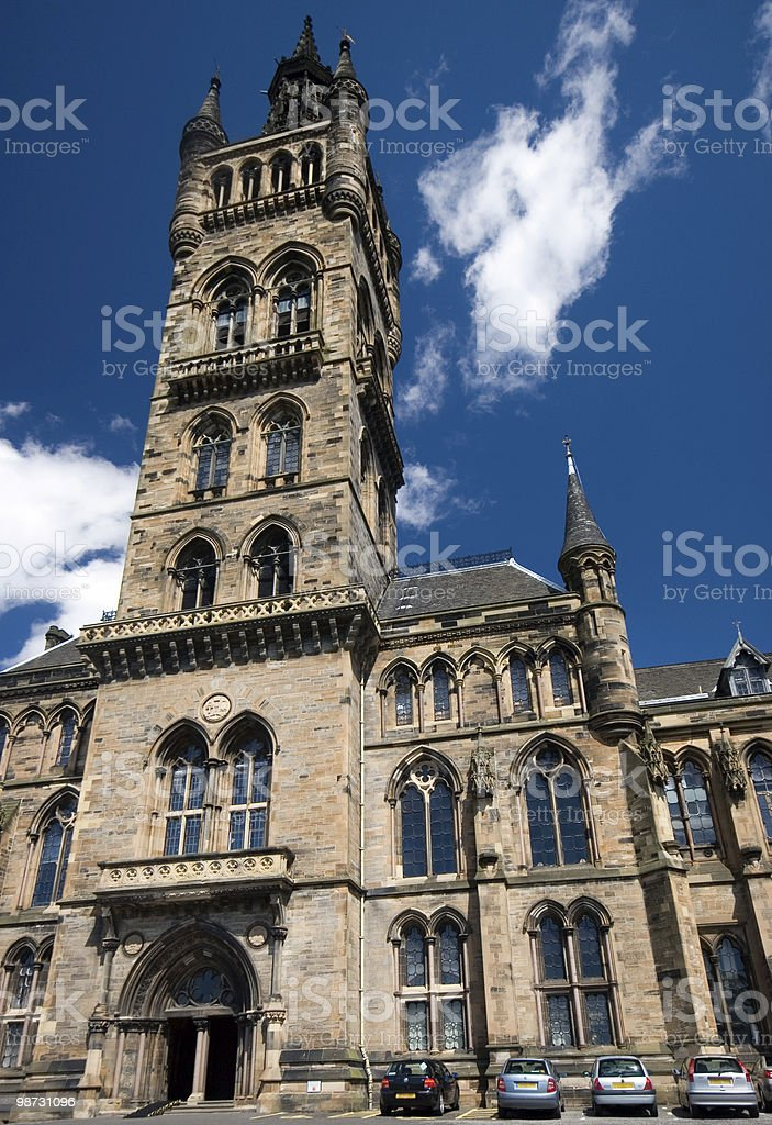 Glasgow University Bell Tower royalty-free stock photo