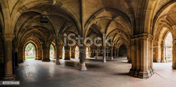 istock Glasgow University Cloister columns 820039406