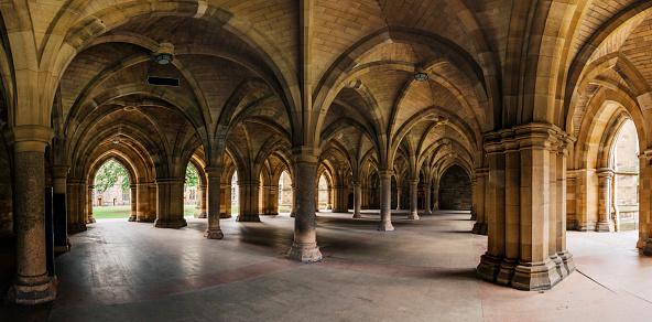 The columns in Glasgow University