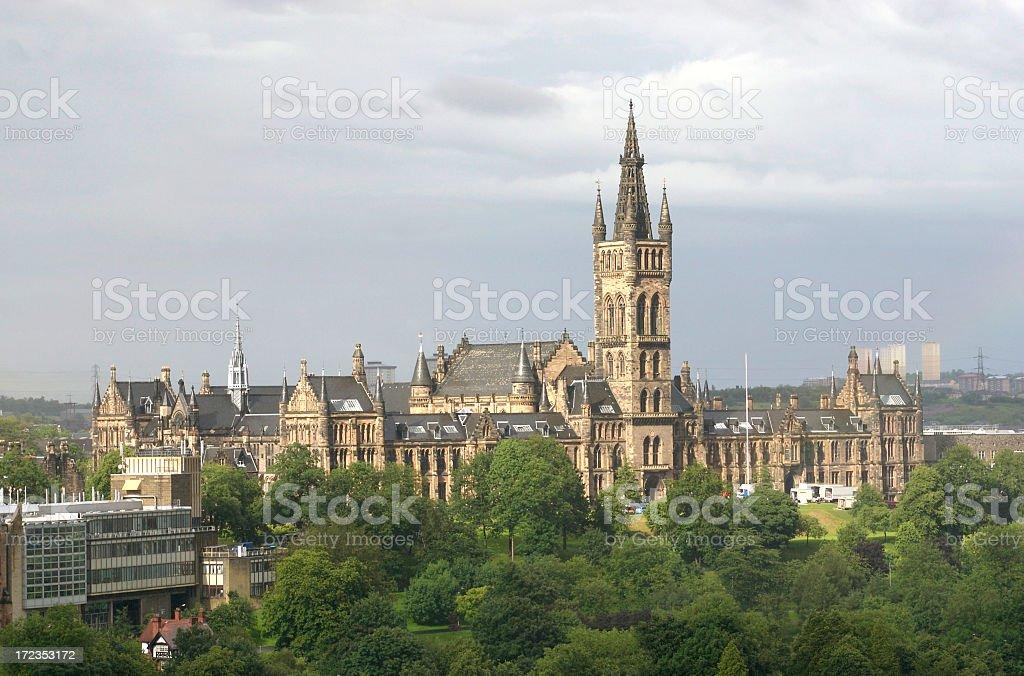 Universidad de Glasgow foto de stock libre de derechos