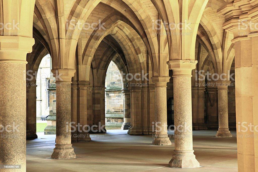 Glasgow University. stock photo