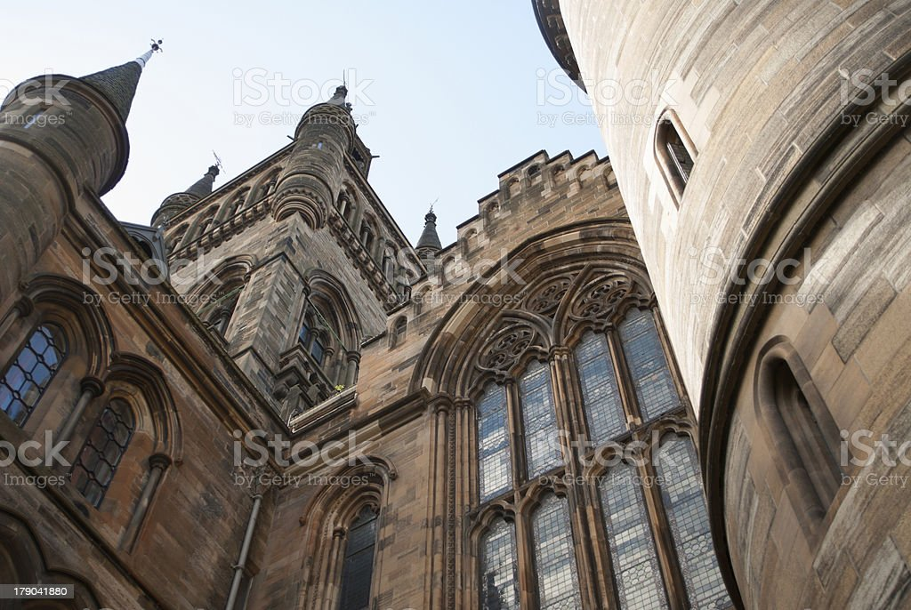 Glasgow University's bell tower stock photo