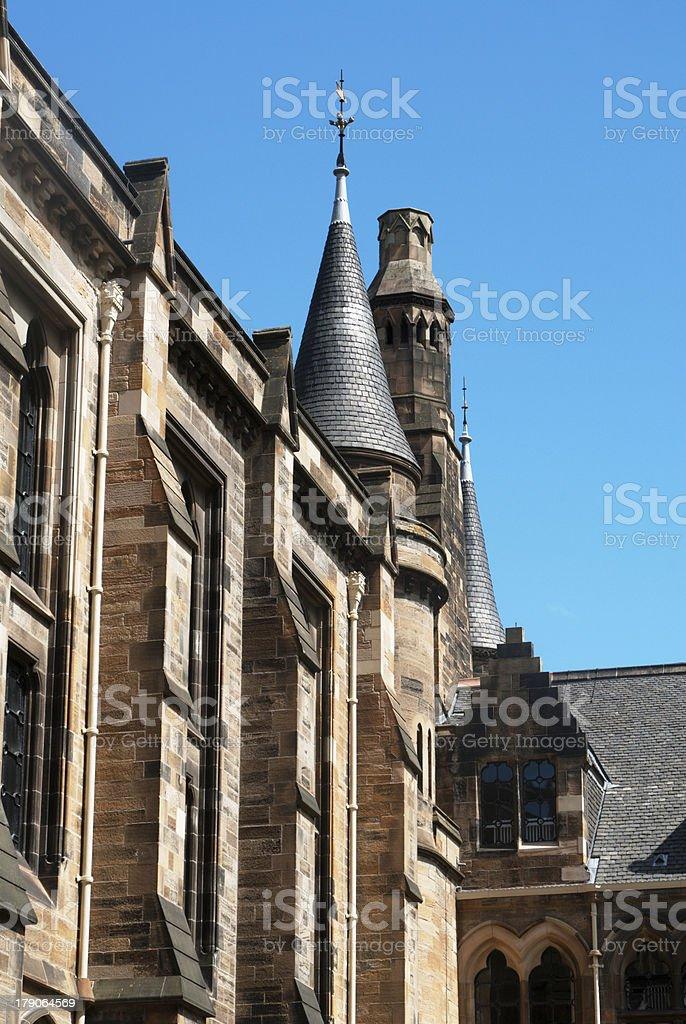 Glasgow University's tower stock photo