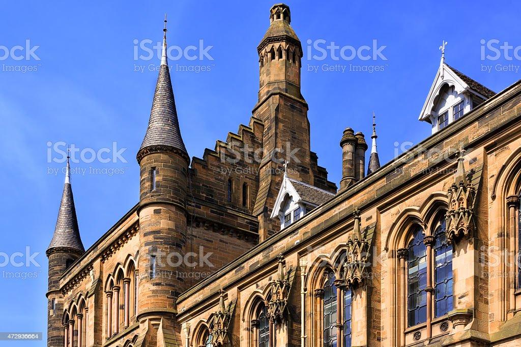 Glasgow University's towers stock photo