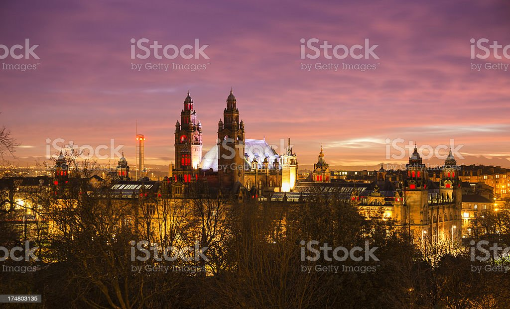 Glasgow West End stock photo