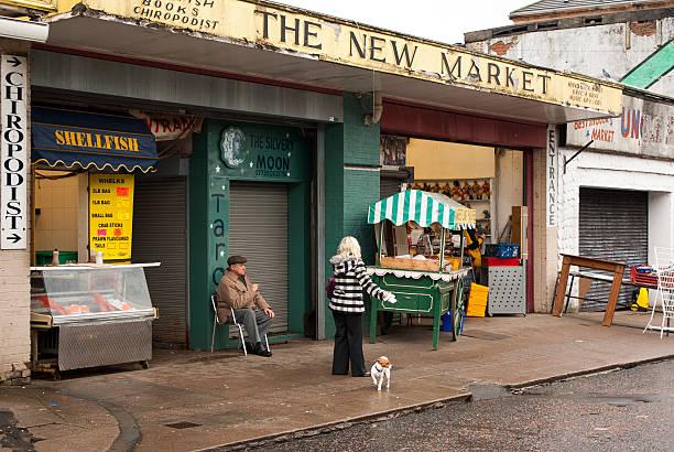 Glasgow's Barras market stock photo