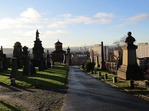 View from Glasgow Necropolis, looking towards the city centre.
