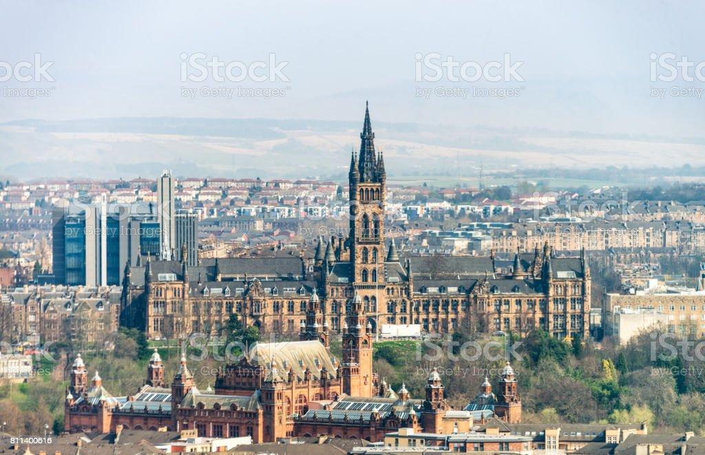 Glasgow's West End stock photo