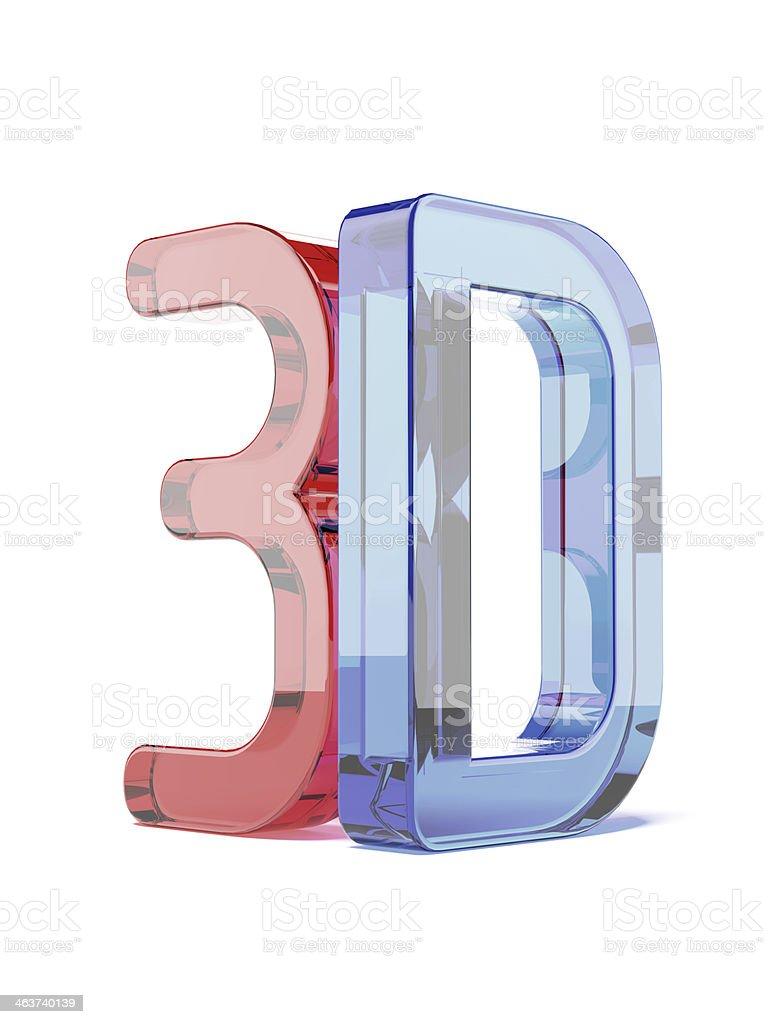 Glass 3D logo stock photo