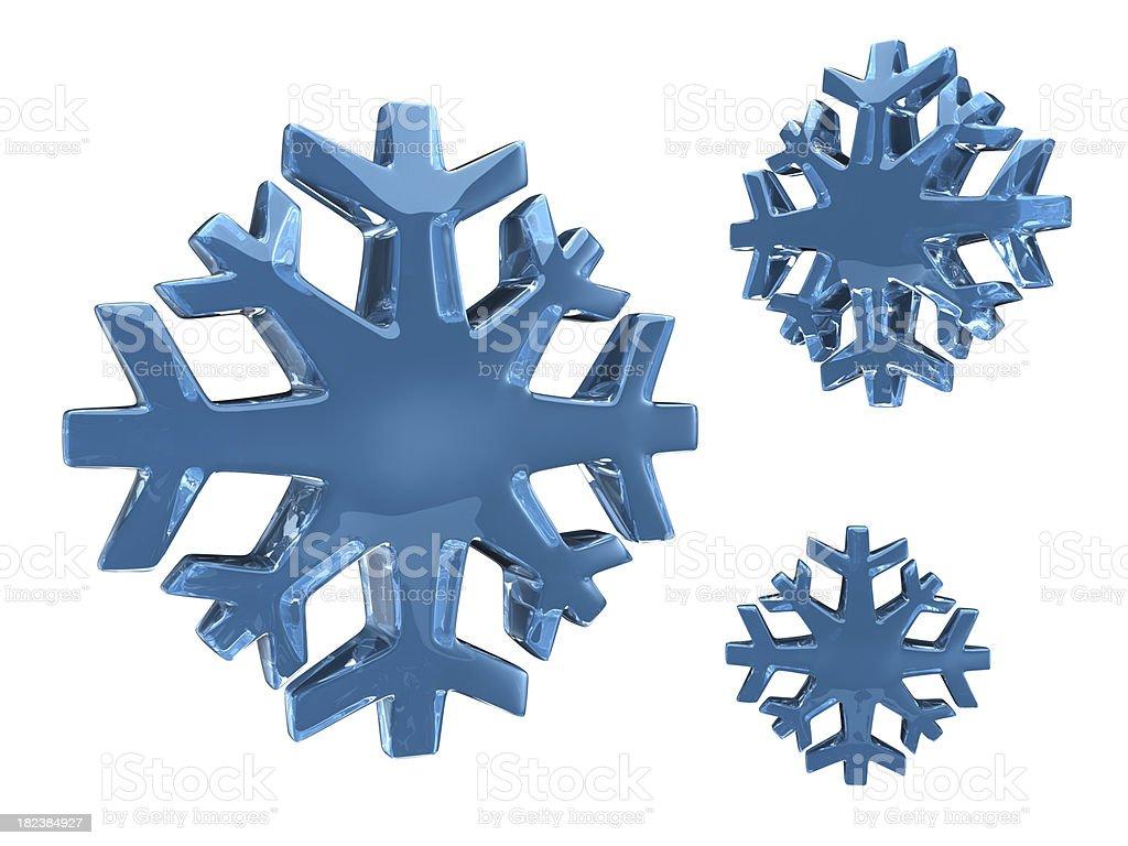 Fiocchi di neve di vetro 3D - foto stock