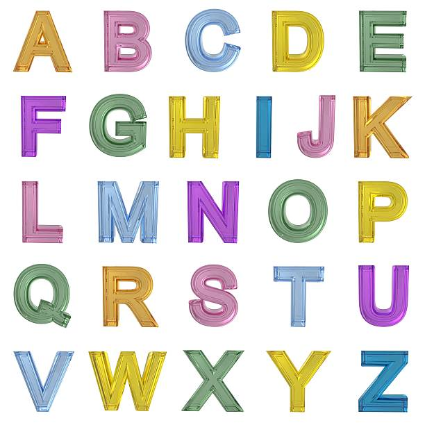 glass alphabet - ruth 個照片及圖片檔