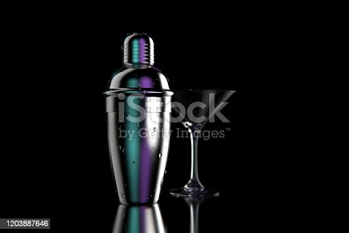 glass and a metallic shaker stock photo