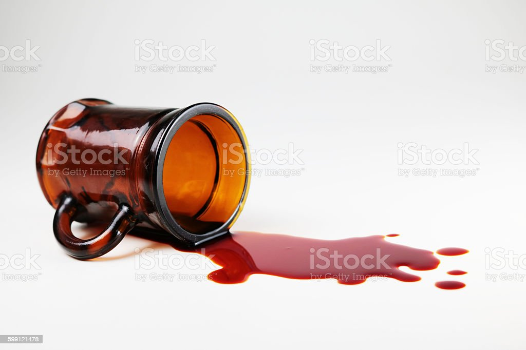 Glass and blood stock photo