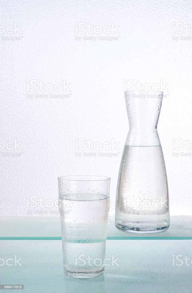 glass and carafe stock photo