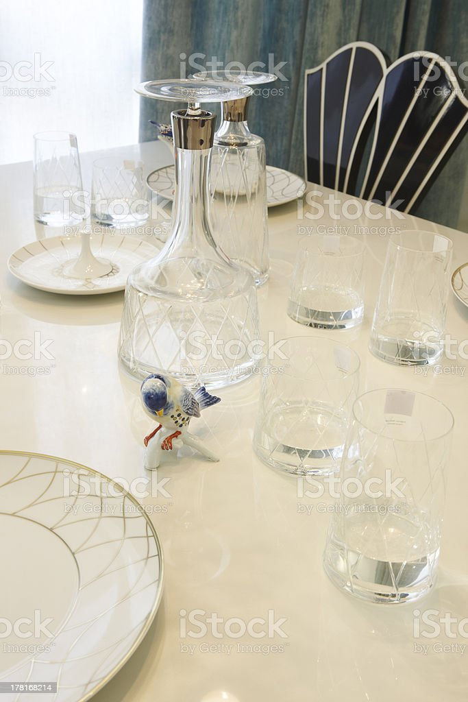 Glass and ceramic Dishware royalty-free stock photo