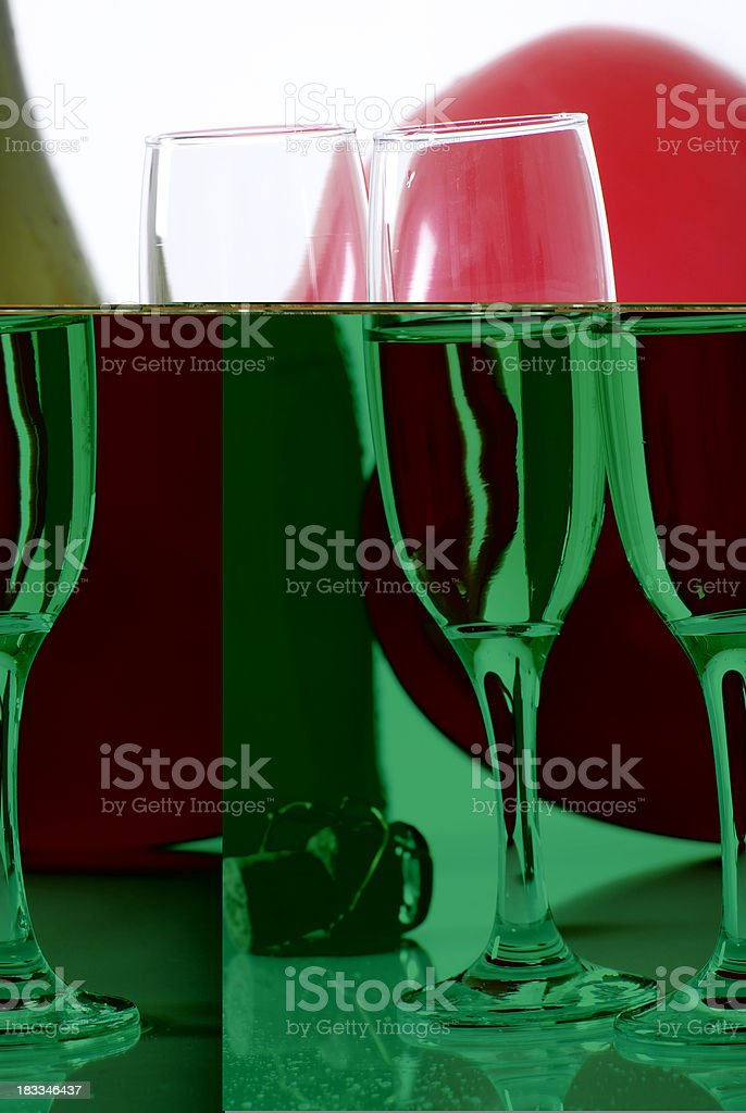 Glass and Champagne royalty-free stock photo