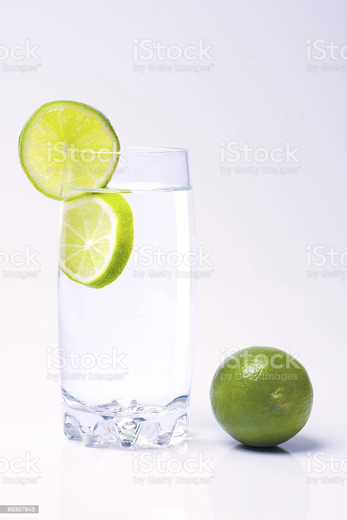 Glass and lime royalty free stockfoto