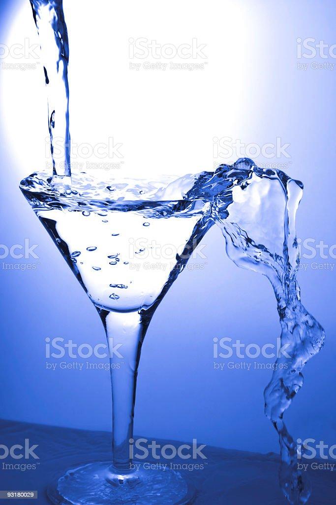 Glass and martini stock photo
