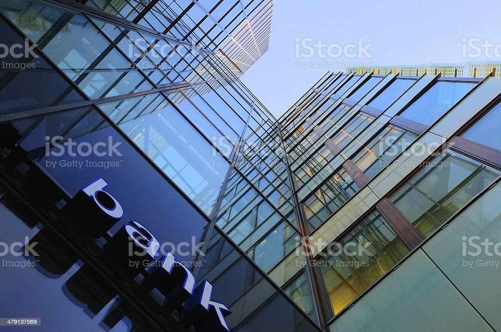 Glass and steel bank corporate building royalty-free stock photo