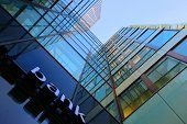 istock Glass and steel bank corporate building 479137569