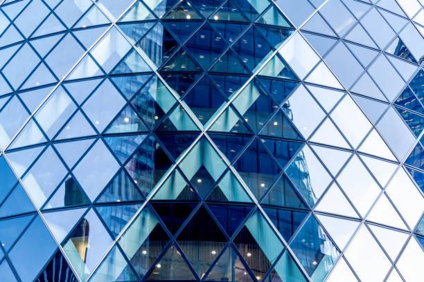 glas och stål byggnaden exteriör - finanskvarter bildbanksfoton och bilder