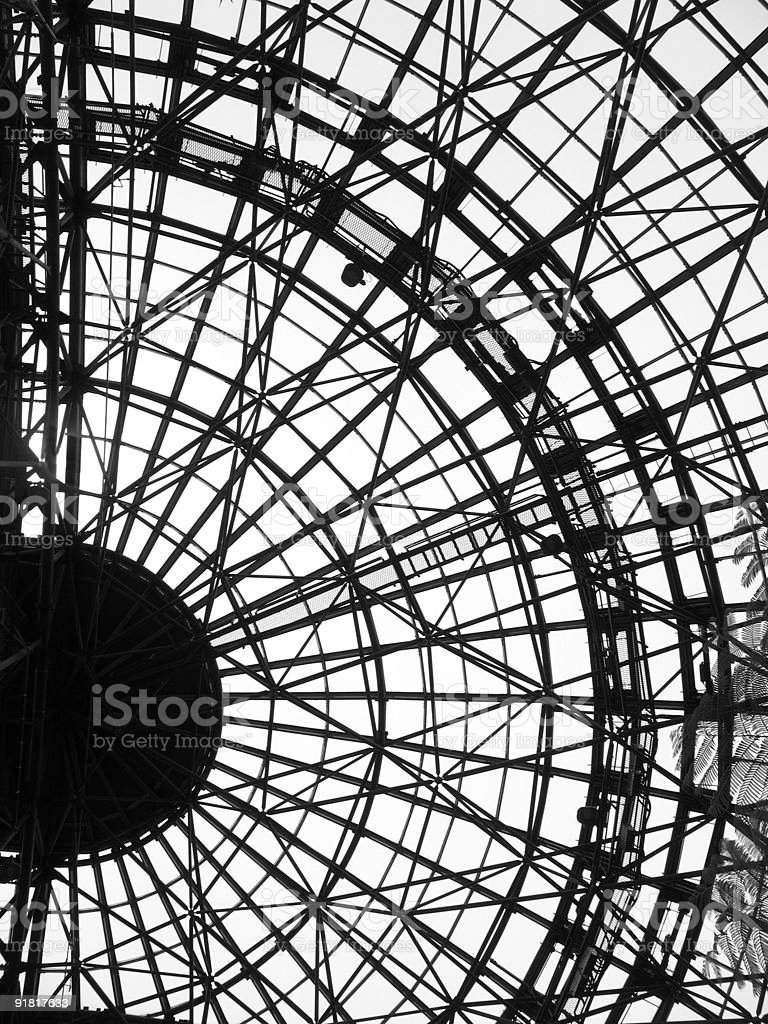 Glass and Steel Greenhouse Structure royalty-free stock photo