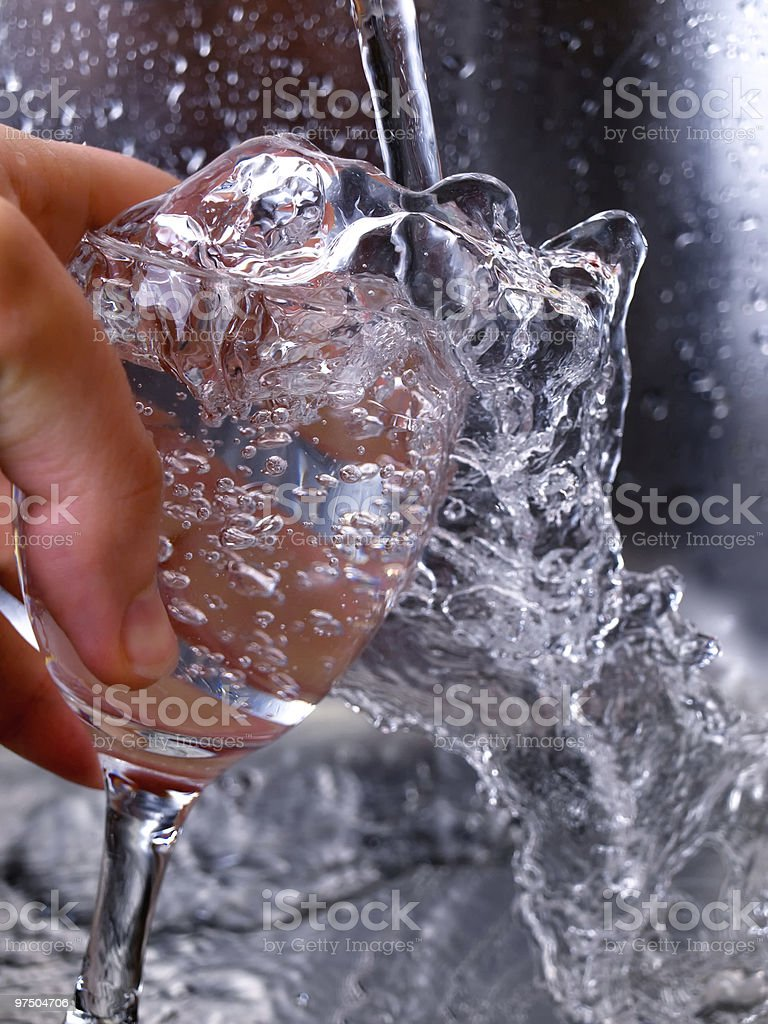 Glass and water royalty-free stock photo
