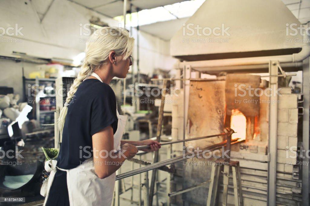 Glass art stock photo