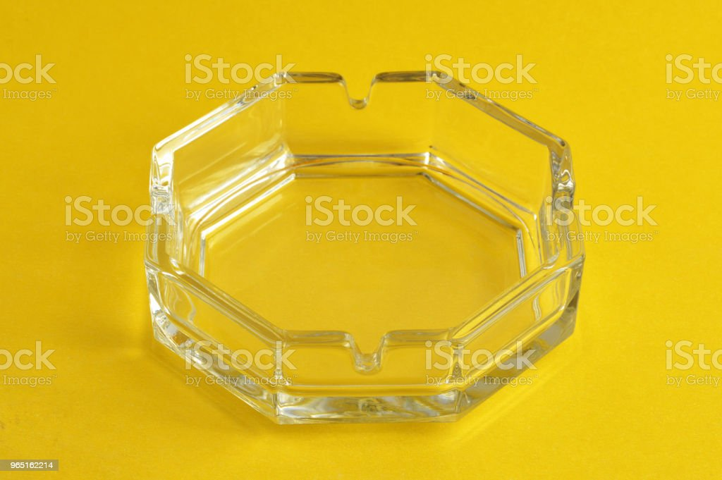 Glass ashtray zbiór zdjęć royalty-free