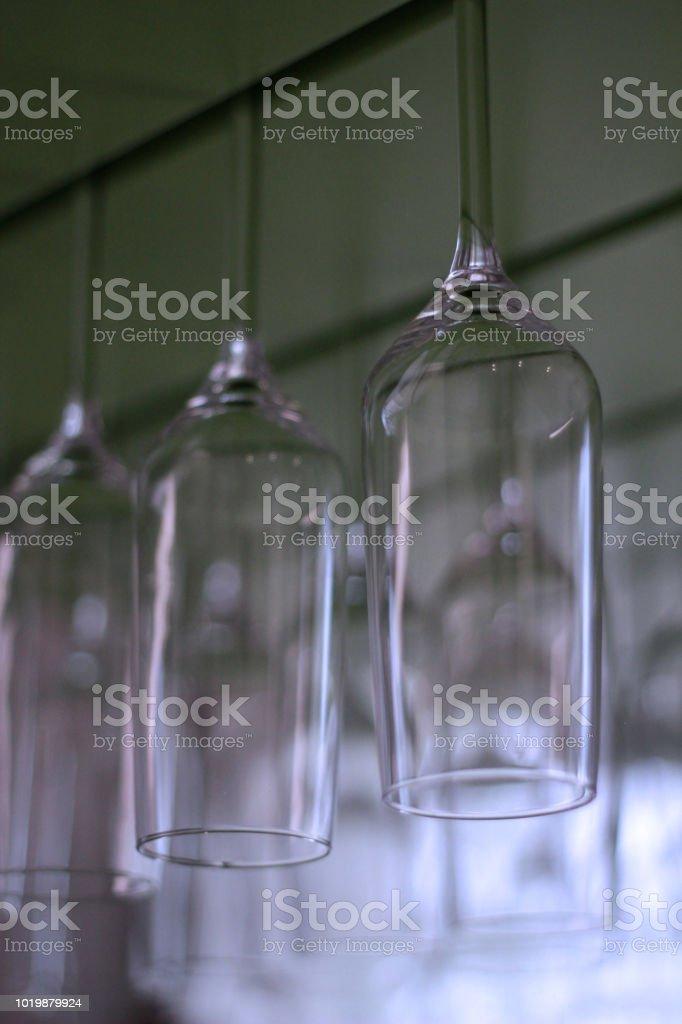 glass at bar stock photo