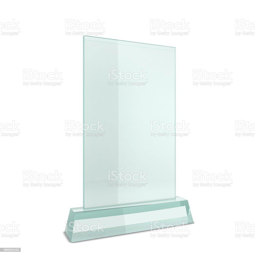 Glass award stock photo