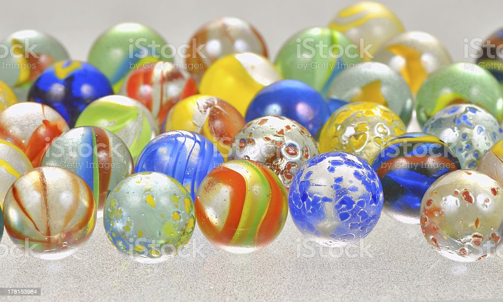 Pelotas de vidrio - foto de stock